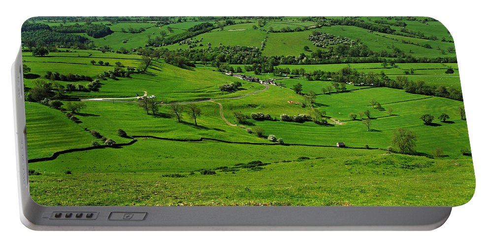 Countryside Portable Battery Charger featuring the photograph South West From Thorpe Cloud Summit by Rod Johnson
