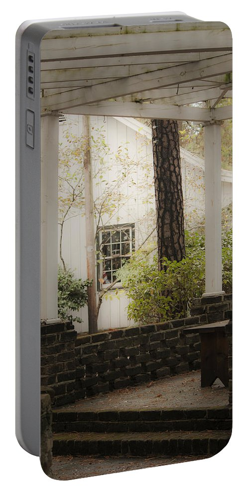 Southern Portable Battery Charger featuring the photograph Southern Pergola Charm by Teresa Mucha