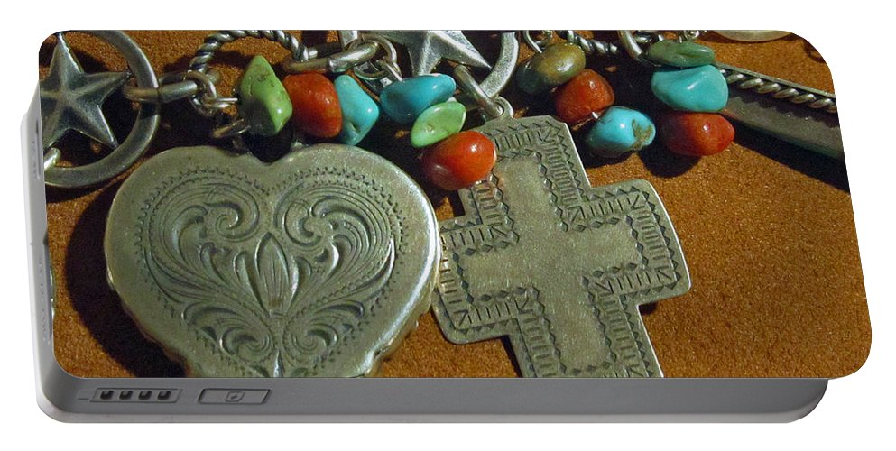 Valentines Portable Battery Charger featuring the photograph Southwest Style Jewelry With Texas Star by Elizabeth Rose