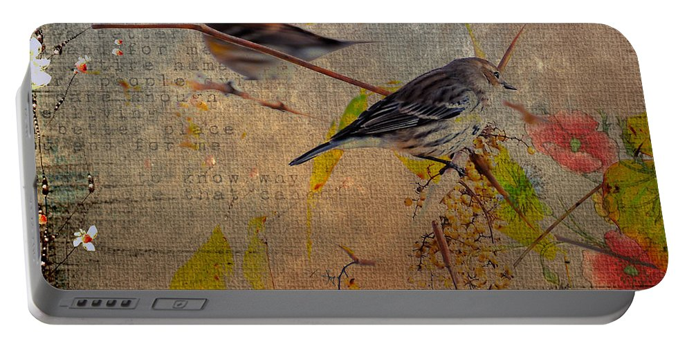 Bird Portable Battery Charger featuring the photograph Sparrow by Todd Hostetter