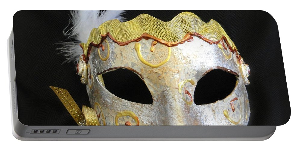 Venetian Mask Portable Battery Charger featuring the photograph Spirale by Shannon Grissom