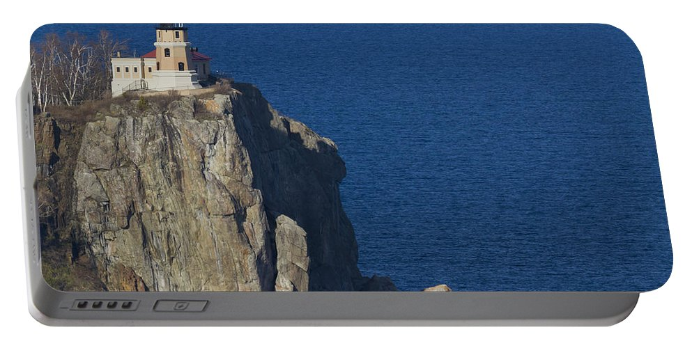 Split Portable Battery Charger featuring the photograph Split Rock Lighthouse 78 by John Brueske