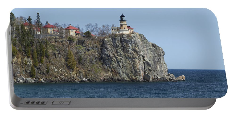 Split Portable Battery Charger featuring the photograph Split Rock Lighthouse 83 by John Brueske