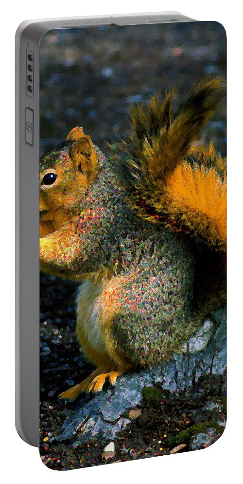 Squirrel Portable Battery Charger featuring the photograph Squirrel At Riverfront Park by Ben Upham III