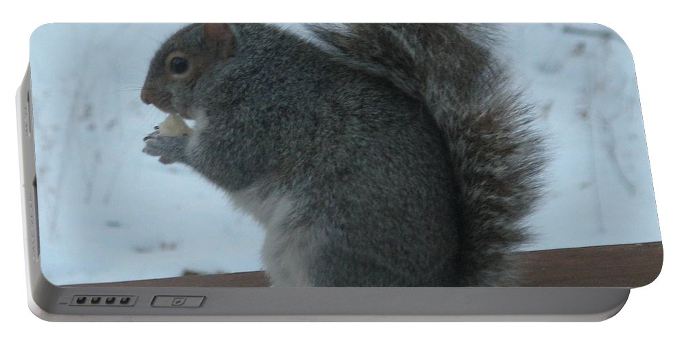 Squirrel Portable Battery Charger featuring the photograph Squirrel Snack by Richard Bryce and Family