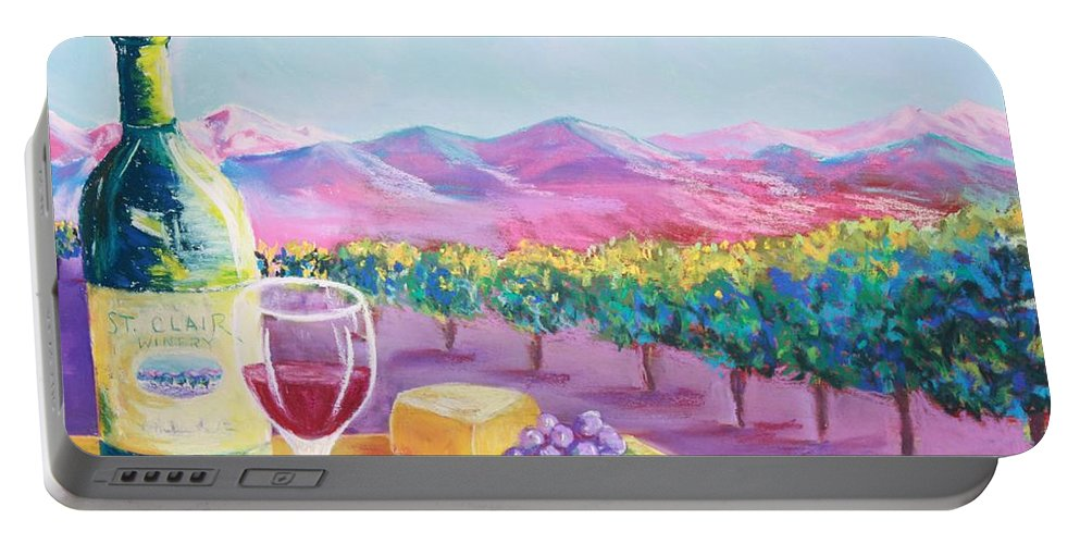 St. Clair Portable Battery Charger featuring the painting St. Clair by Melinda Etzold