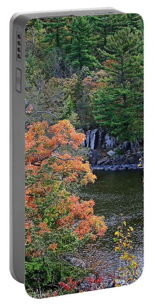 Landscape Portable Battery Charger featuring the photograph St Croix River by Susan Herber