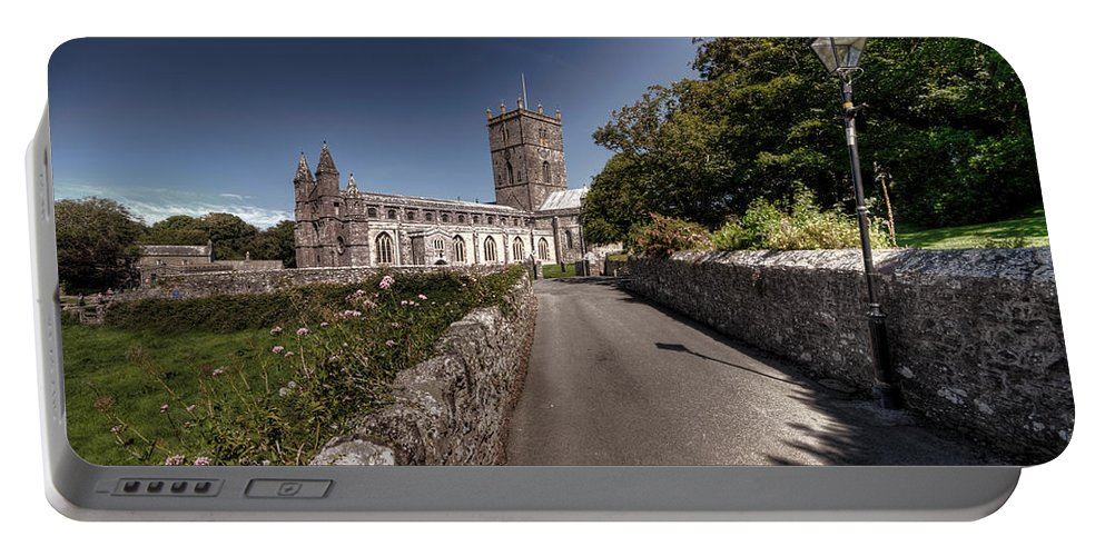 St Davids Cathedral Portable Battery Charger featuring the photograph St Davids Cathedral Pembrokeshire 2 by Steve Purnell