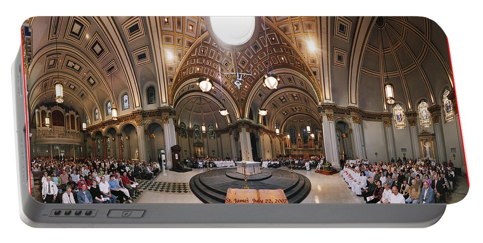 Group Photo Portable Battery Charger featuring the photograph St James Cathedral by Mike Penney