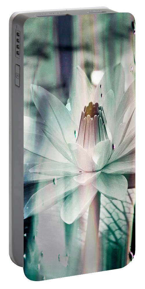 Lily Portable Battery Charger featuring the photograph St. James Hotel by Trish Tritz