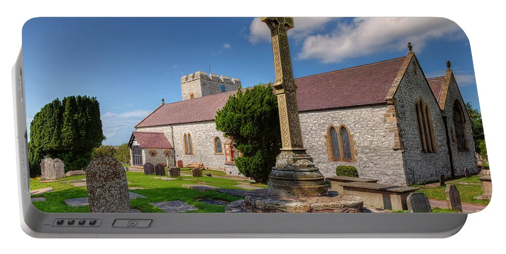 Architecture Portable Battery Charger featuring the photograph St Mary 1080 by Adrian Evans