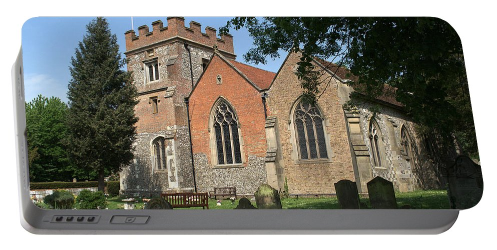 Portable Battery Charger featuring the photograph St Marys Harefield by Chris Day