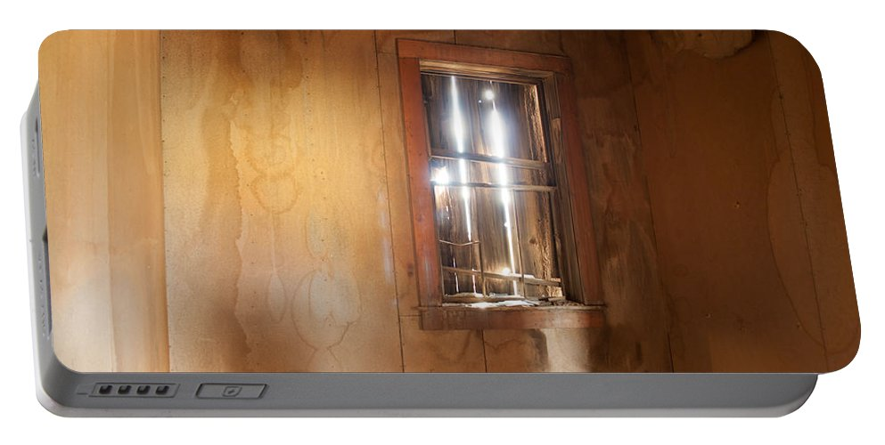 Window Portable Battery Charger featuring the photograph Stains Of Time by Fran Riley