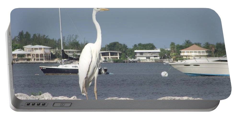 Key Largo Shoreline Portable Battery Charger featuring the photograph Standing Guard by Michelle Welles