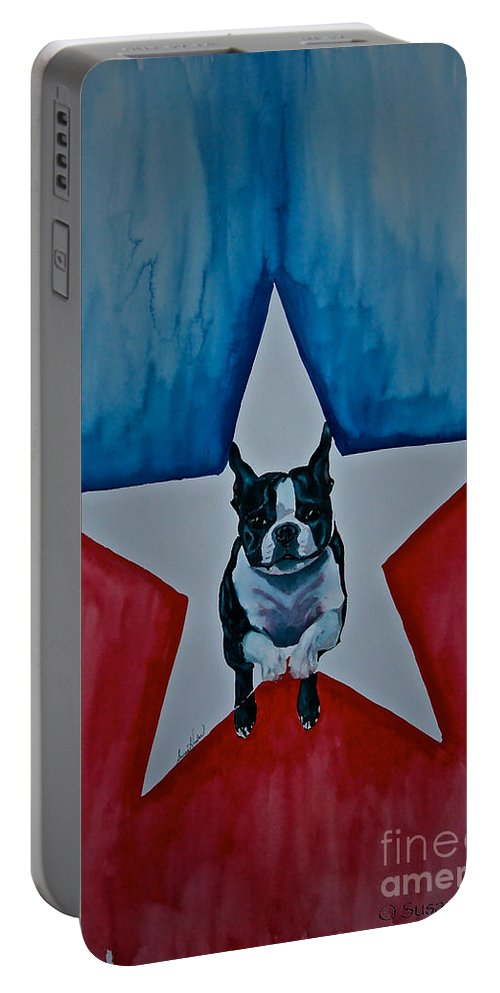 Portable Battery Charger featuring the painting Star Appeal 3 by Susan Herber