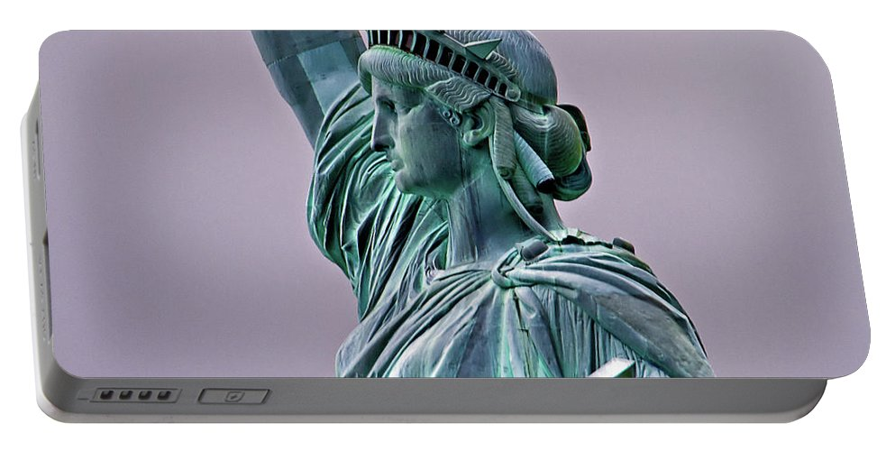 Statue Of Liberty Portable Battery Charger featuring the photograph Statue Of Liberty by Bill Lindsay