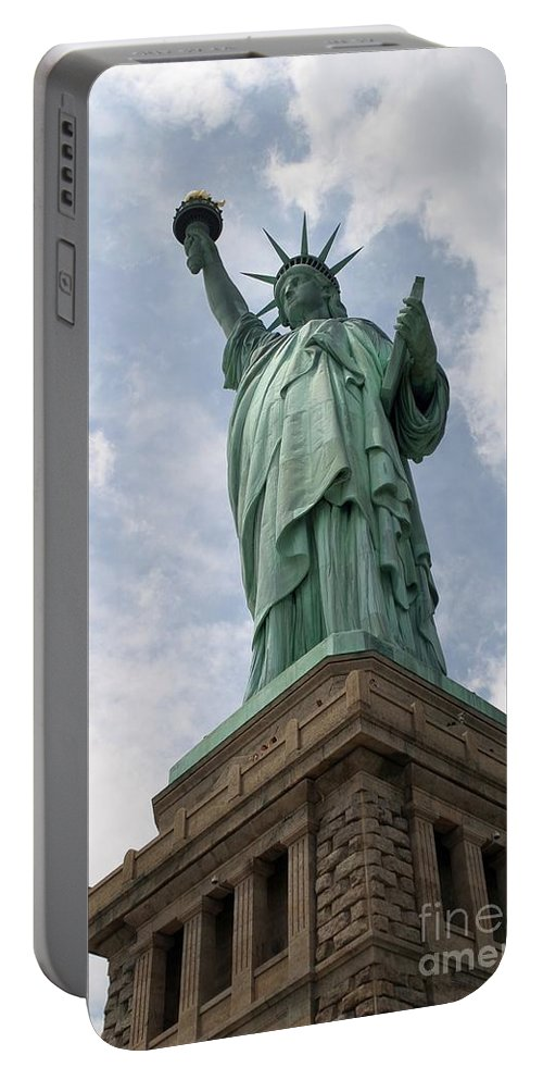 Statue Of Liberty Portable Battery Charger featuring the photograph Statue Of Liberty by Living Color Photography Lorraine Lynch