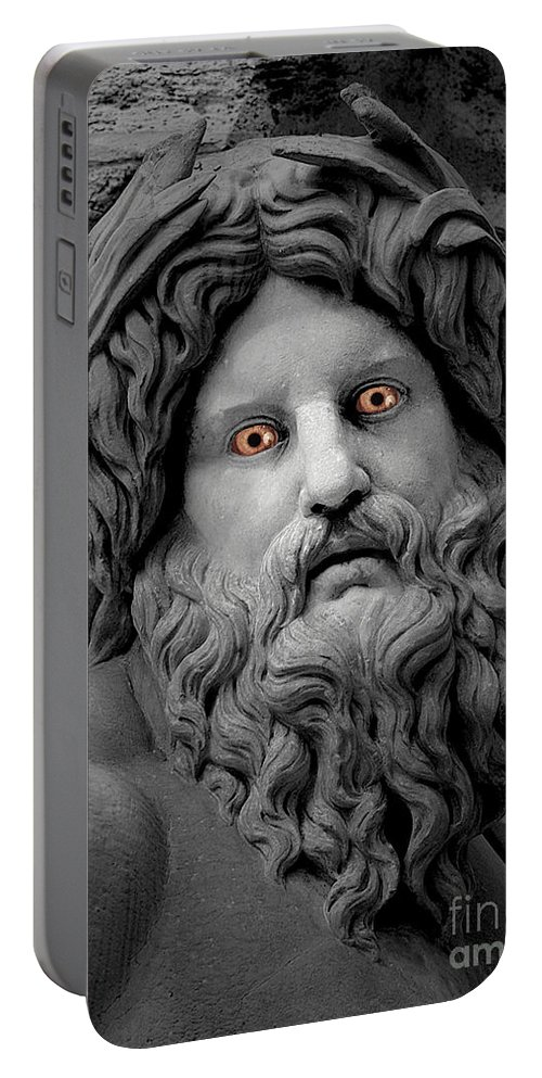 Statue Portable Battery Charger featuring the photograph Statue With Eyes by Mike Nellums