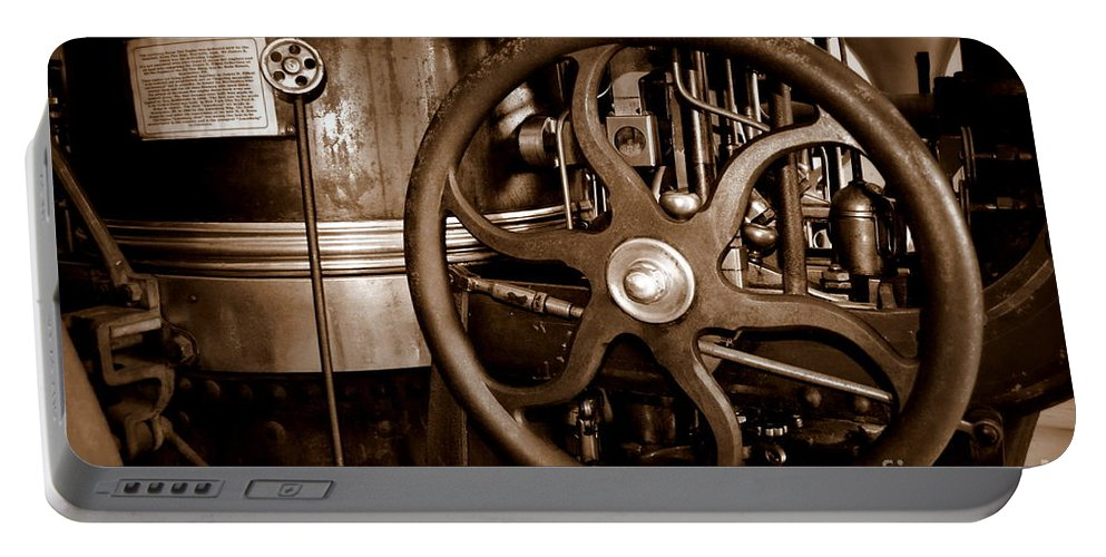 Steam Portable Battery Charger featuring the photograph Steam Wheel by Kevin Fortier