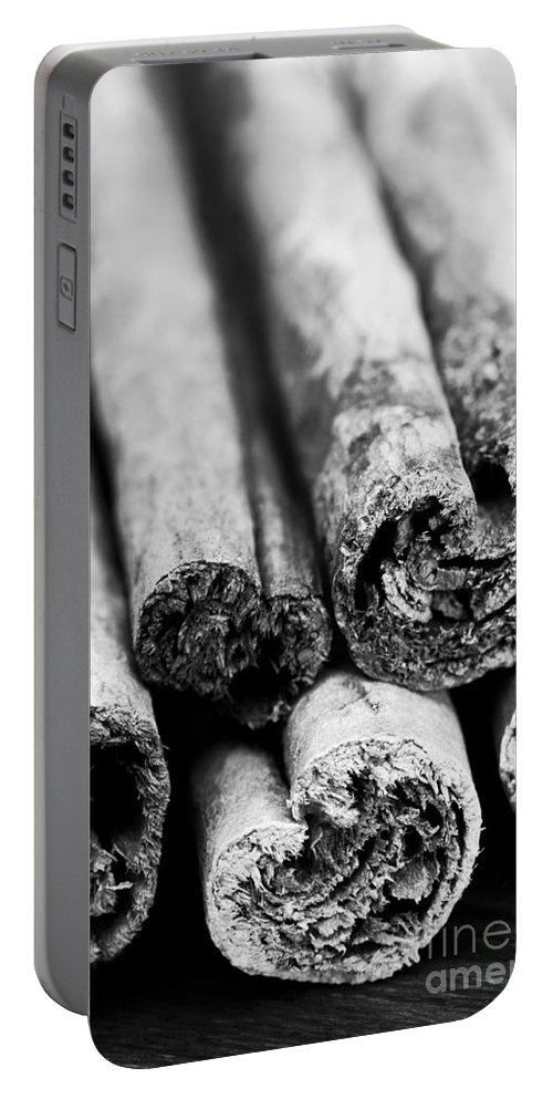 Annegilbert Portable Battery Charger featuring the photograph Sticks Of Cinnamon by Anne Gilbert