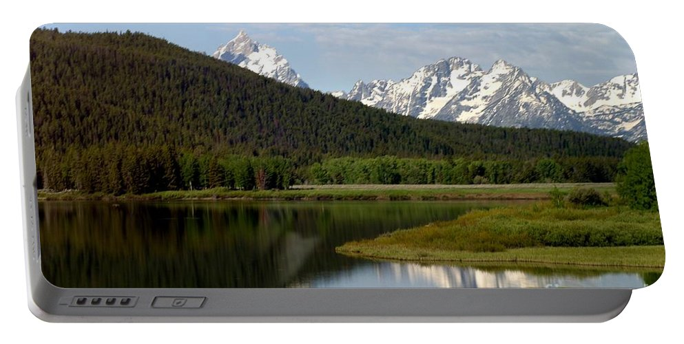Grand Tetons Portable Battery Charger featuring the photograph Still Waters by Living Color Photography Lorraine Lynch
