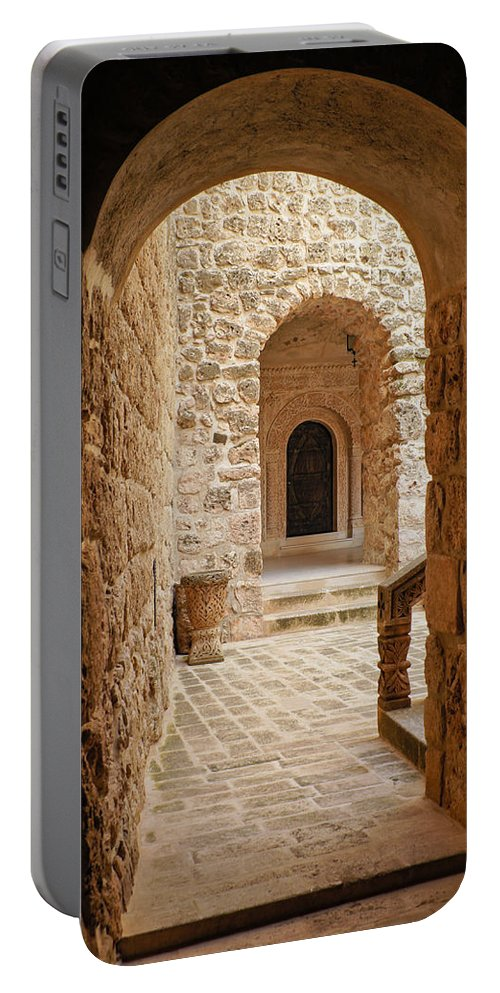 Turkey Portable Battery Charger featuring the photograph Stone Arches by Michele Burgess