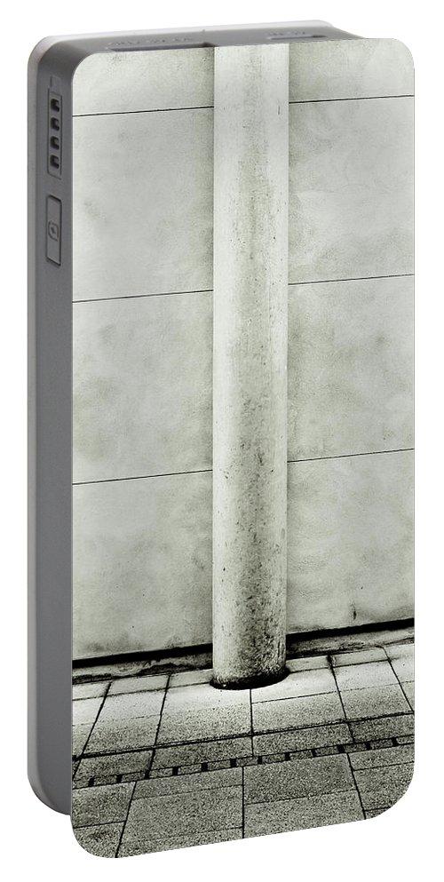 Abstract Portable Battery Charger featuring the photograph Stone Pillar by Tom Gowanlock