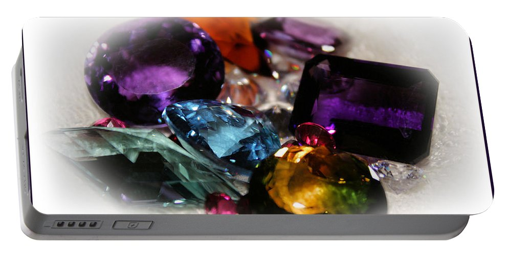 Colorful Portable Battery Charger featuring the photograph Stoned by Kristin Elmquist
