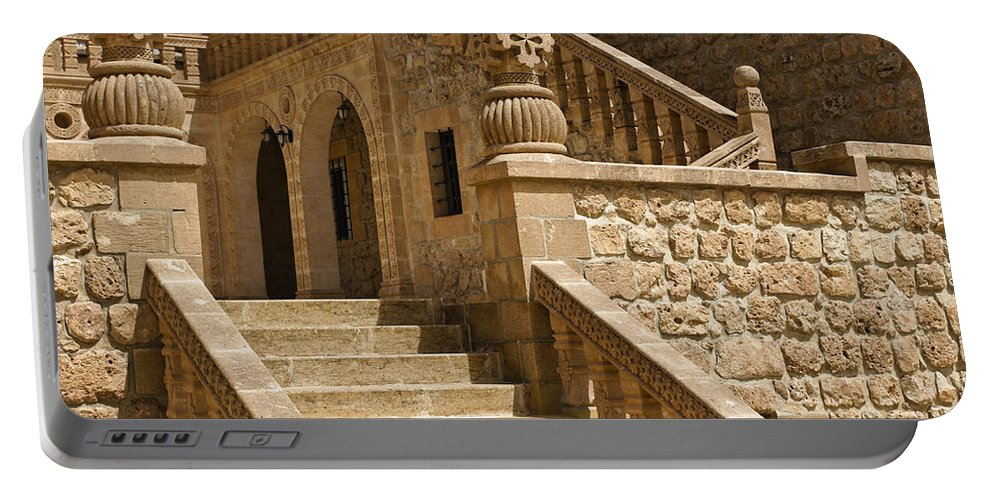 Turkey Portable Battery Charger featuring the photograph Stones And Stairs by Michele Burgess
