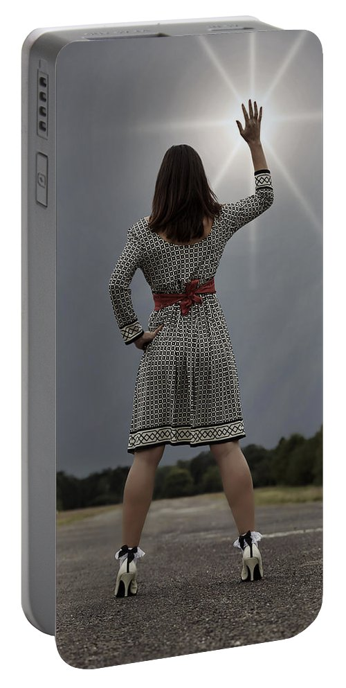 Woman Portable Battery Charger featuring the photograph Stop The Sun by Joana Kruse