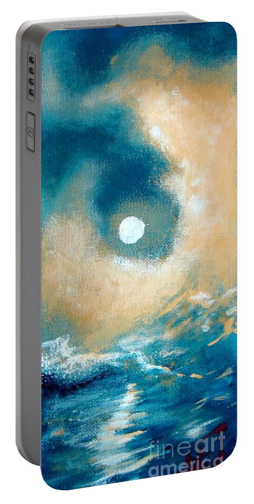 Nature Portable Battery Charger featuring the painting Storm by Ana Maria Edulescu