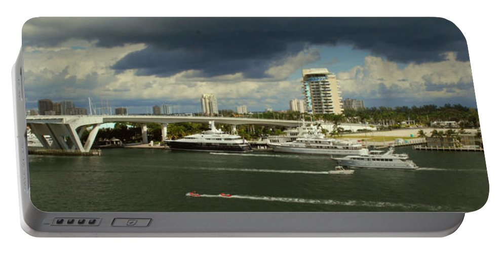 Florida Portable Battery Charger featuring the photograph Stormy Fort Lauderdale by Gary Wonning