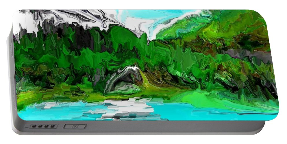Fine Art Portable Battery Charger featuring the digital art Strange View 112611 by David Lane