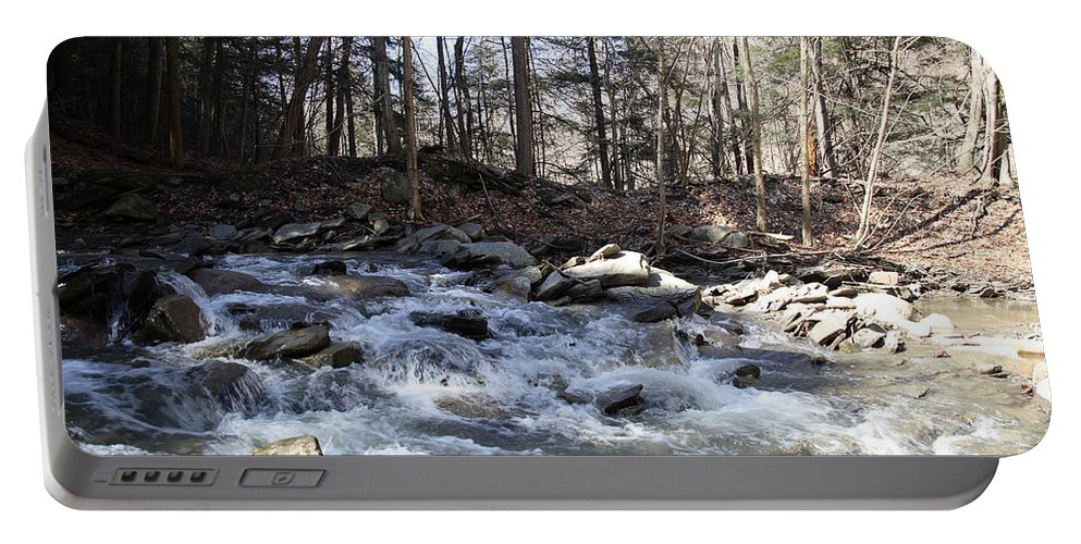 Stream Portable Battery Charger featuring the photograph Stream by Ted Kinsman