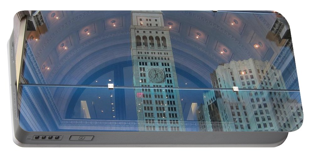 Reflections Portable Battery Charger featuring the photograph Toy Building by Stefa Charczenko