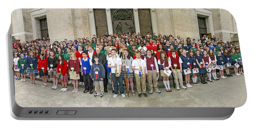Students Catholic Schools 2007 Portable Battery Charger featuring the photograph Students Catholic Schools 2007 by Mike Penney