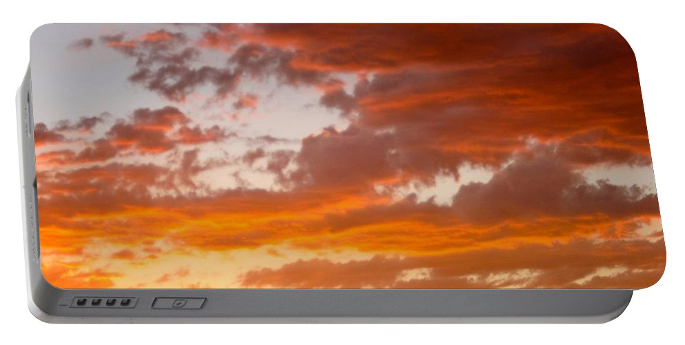 Sunset Portable Battery Charger featuring the photograph Stunning Sunset by Phyllis Kaltenbach