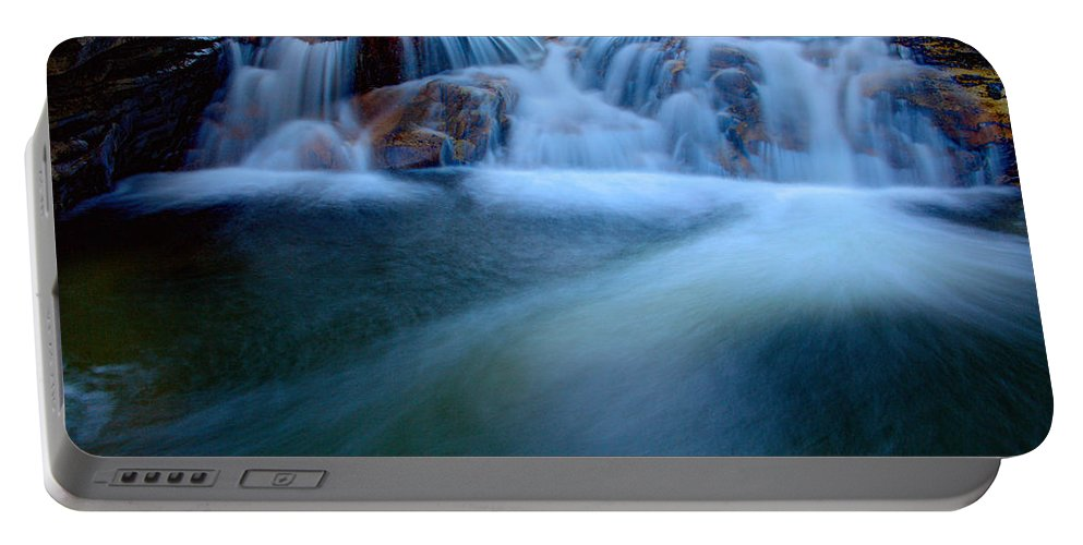 Outdoor Portable Battery Charger featuring the photograph Summer Cascade by Chad Dutson