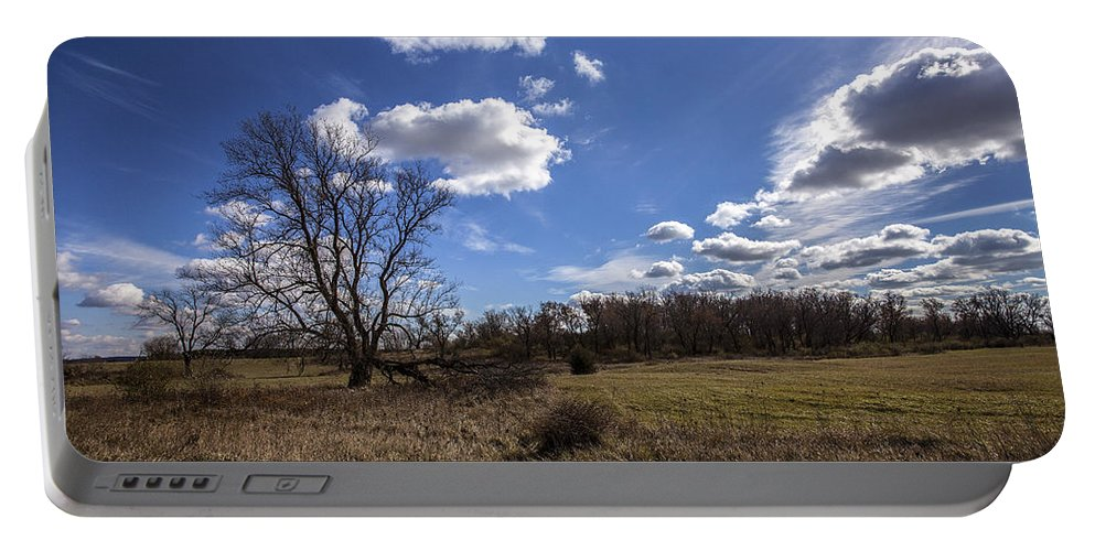 5d Mark Ii Portable Battery Charger featuring the photograph Summer Sky In The Fall by CJ Schmit