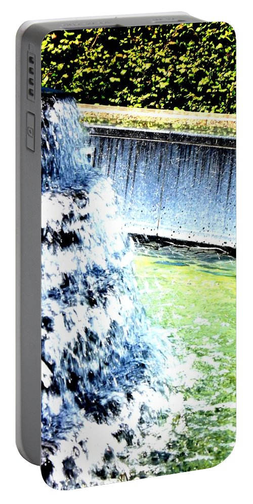 Color Portable Battery Charger featuring the photograph Summer Splash by Shelley Blair