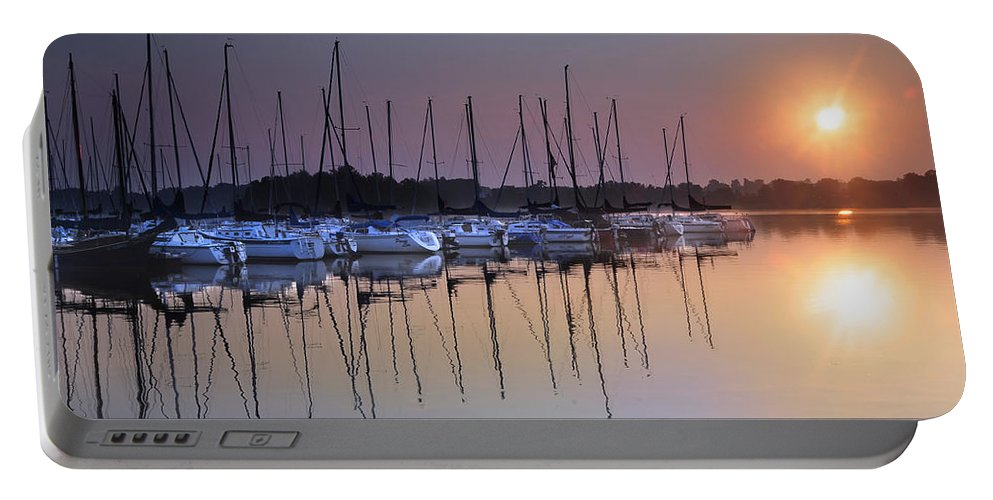 Summertime Sailing Portable Battery Charger featuring the photograph Summertime Sailing by Randall Branham