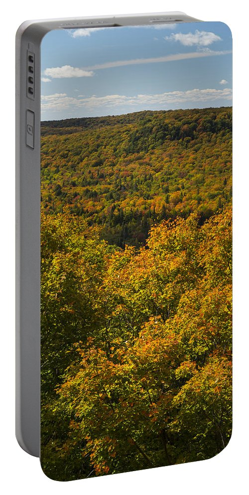 Summit Portable Battery Charger featuring the photograph Summit Peak Autumn 10 by John Brueske