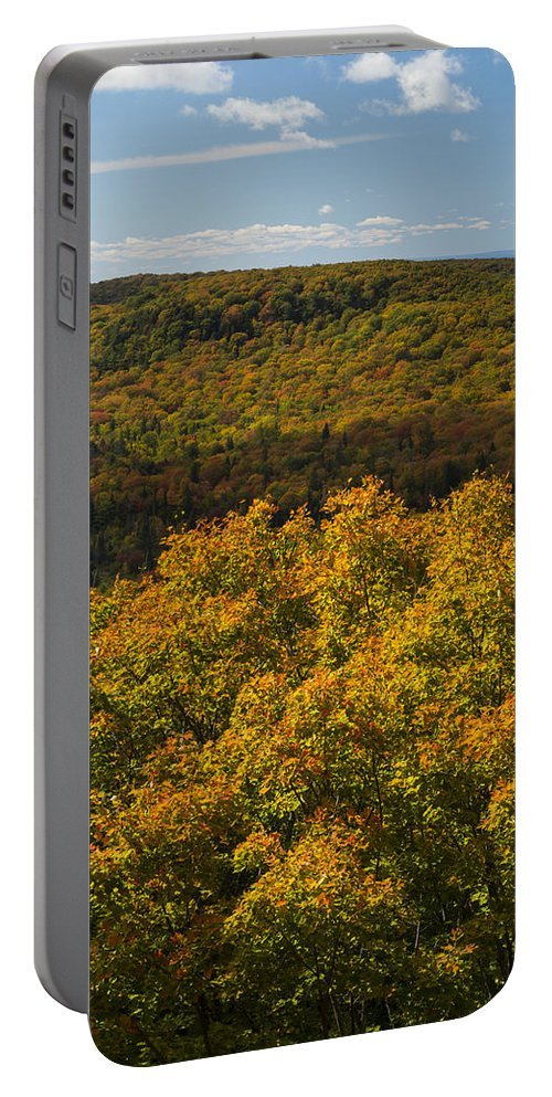 Summit Portable Battery Charger featuring the photograph Summit Peak Autumn 9 by John Brueske