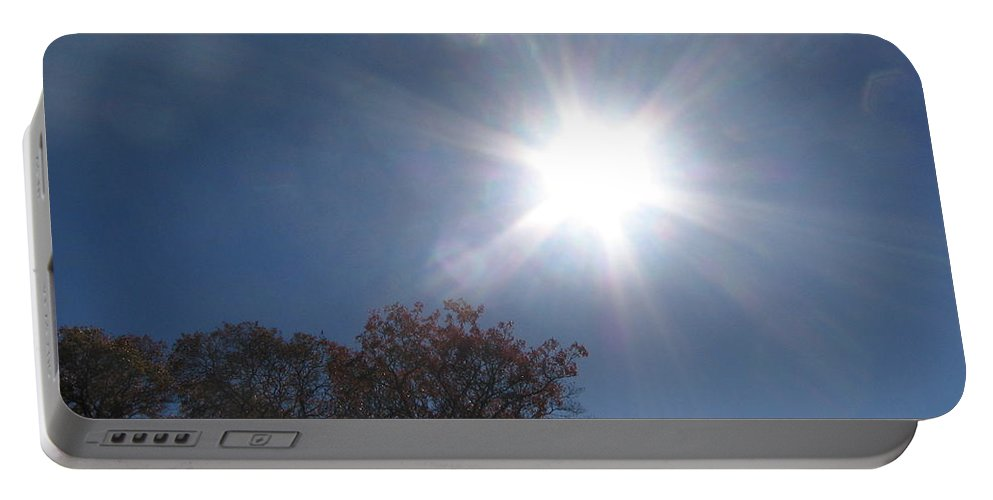 Sun Burst Portable Battery Charger featuring the photograph Sun Beams by Amy Hosp