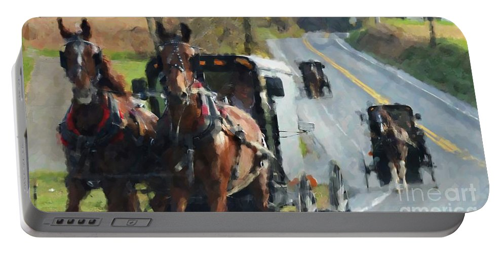 Buggy Portable Battery Charger featuring the photograph Sunday Ride by Debbi Granruth