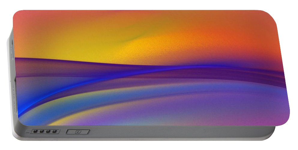Fine Art Portable Battery Charger featuring the digital art Sundown 110811 by David Lane