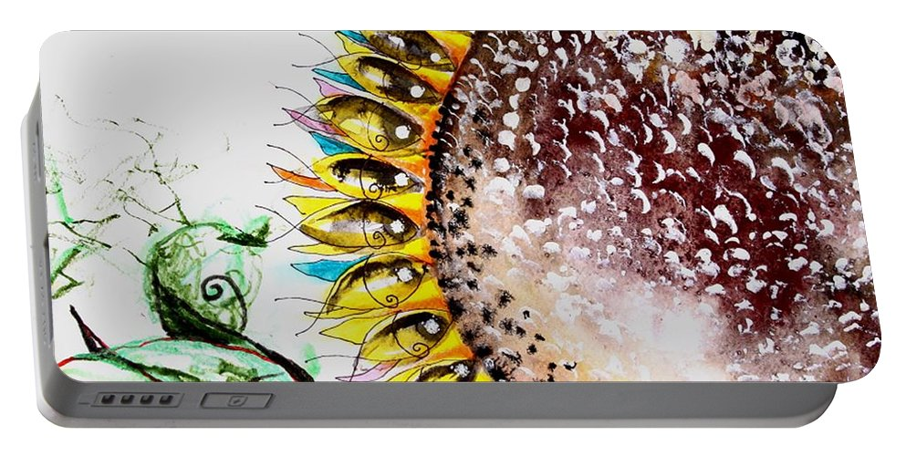 Portable Battery Charger featuring the painting Sunflower Fish 3 by J Vincent Scarpace