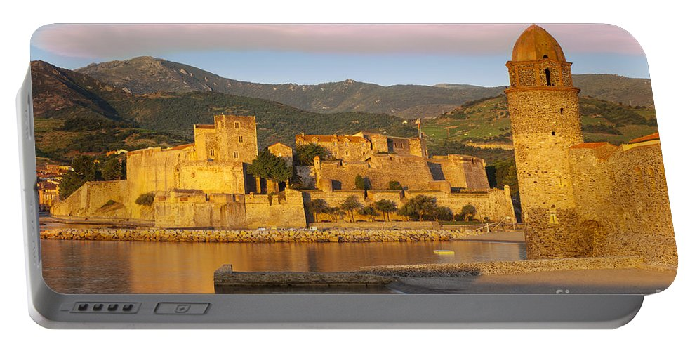 Beach Portable Battery Charger featuring the photograph Sunrise In Collioure by Brian Jannsen