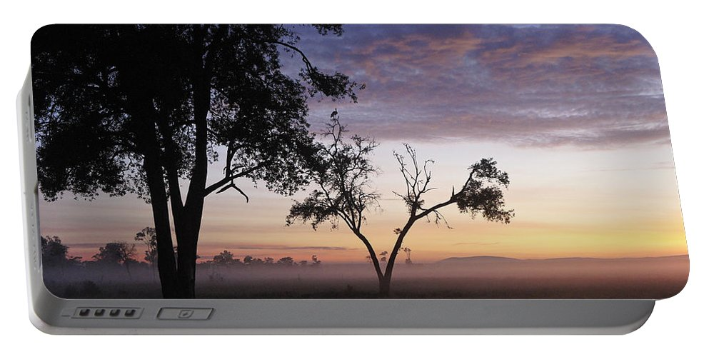 Africa Portable Battery Charger featuring the photograph Sunrise On The Masai Mara by Michele Burgess