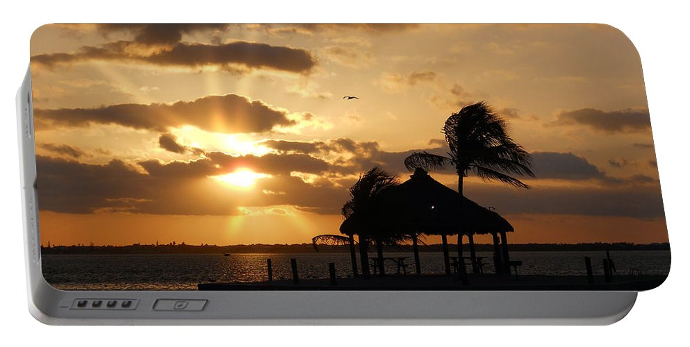 Sunrise Portable Battery Charger featuring the photograph Sunrise Over Bay by Clara Sue Beym